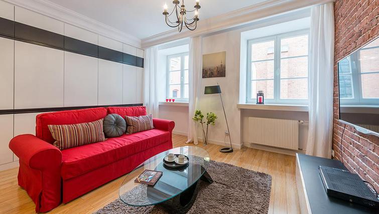 Lounge at Swietojanska Aparmtent - Citybase Apartments