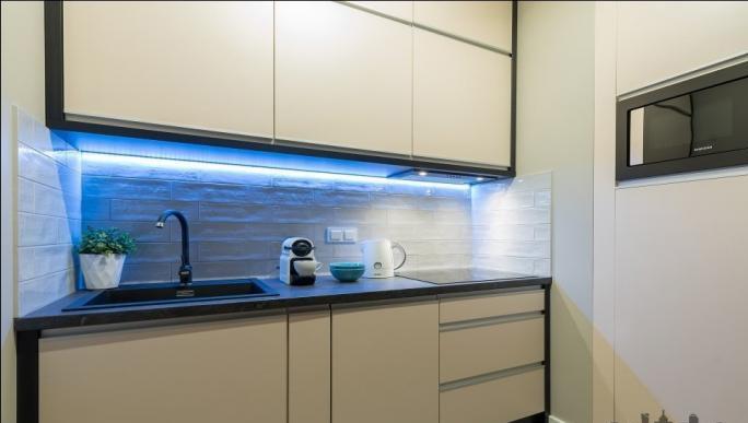 Kitchen at Konstruktorska Apartment - Citybase Apartments