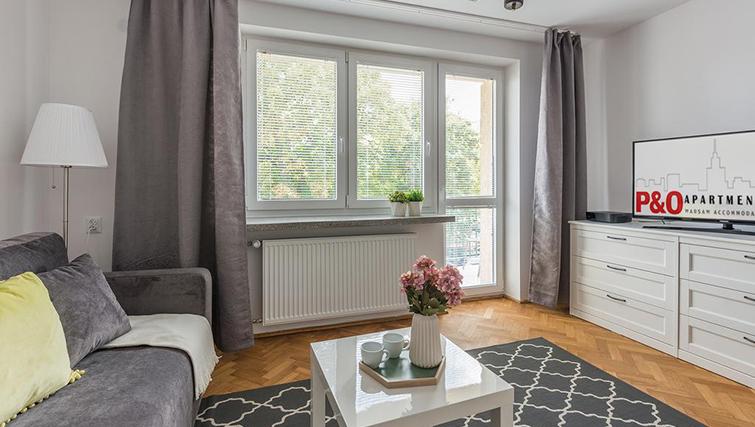 Lounge at Pulawska Apartment - Citybase Apartments