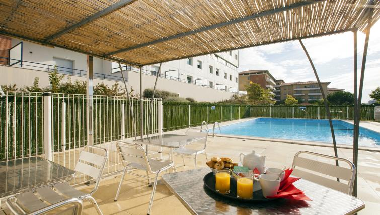 Terrace area at Residhome Occitania - Citybase Apartments