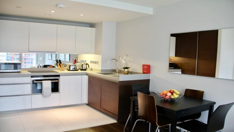 Kitchen at Cloud Canary Wharf Apartments - Citybase Apartments