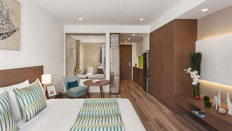 Spacious bedroom at Citadines Regency Saigon Apartments - Citybase Apartments
