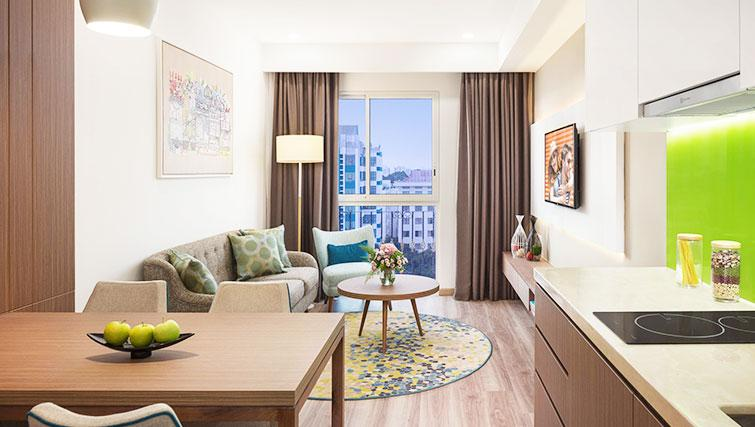 Stylish living area at Citadines Regency Saigon Apartments - Citybase Apartments