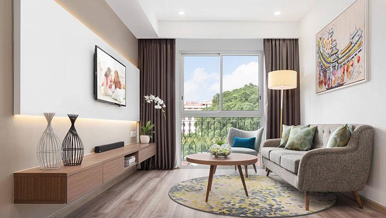 Living room at Citadines Regency Saigon Apartments - Citybase Apartments