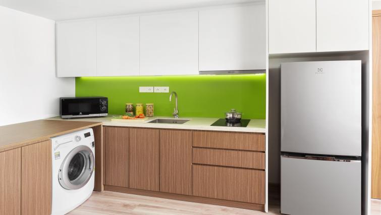 Modern kitchen at Citadines Regency Saigon Apartments - Citybase Apartments