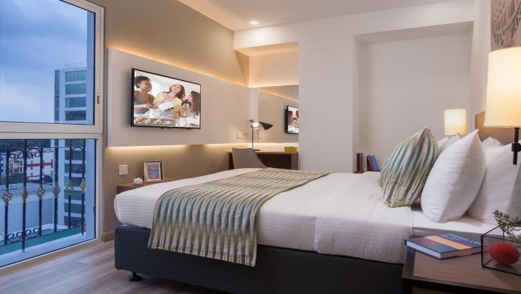 Modern bedroom at Citadines Regency Saigon Apartments - Citybase Apartments