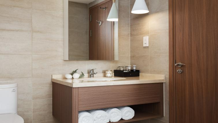 Modern bathroom at Citadines Regency Saigon Apartments - Citybase Apartments