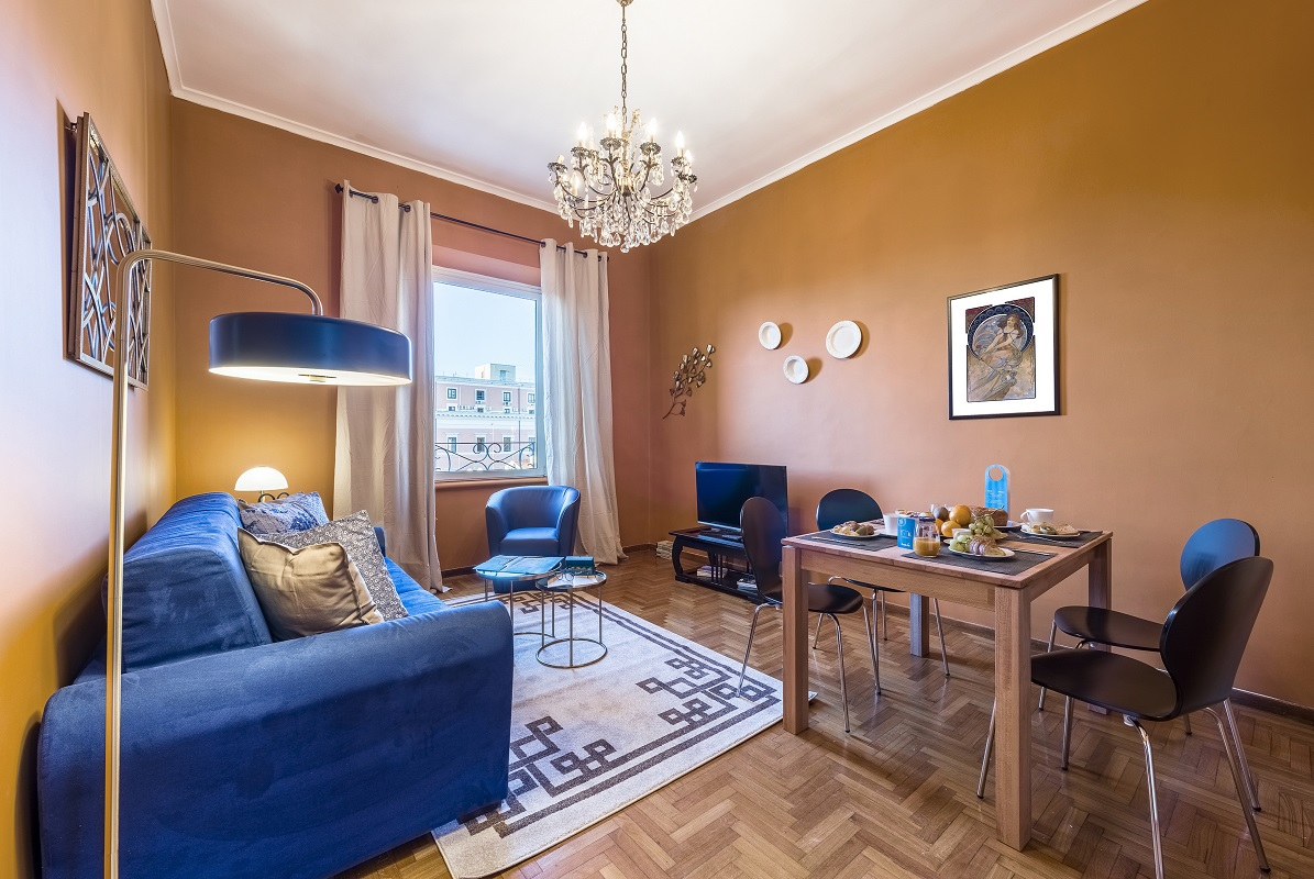 Charming living room at Nazionale Apartments - Citybase Apartments