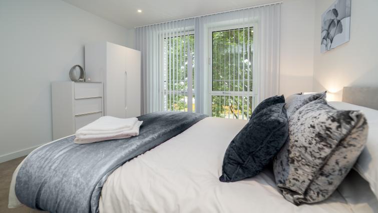 Spacious bedroom at Elephant Park Apartments - Citybase Apartments