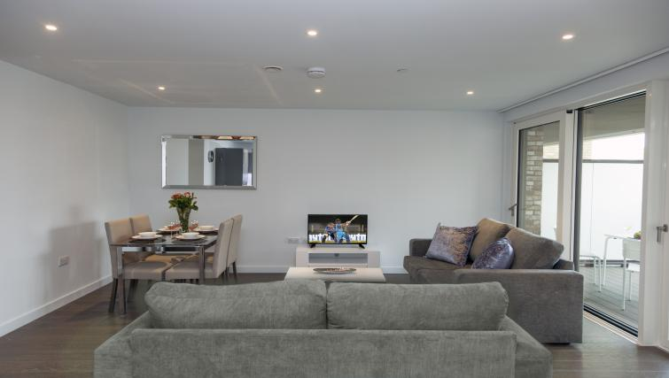 Living room area at Elephant Park Apartments - Citybase Apartments