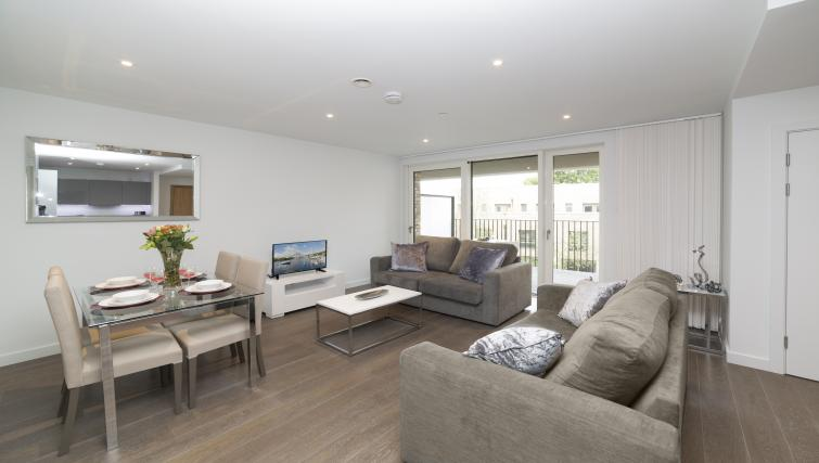 Dining area at Elephant Park Apartments - Citybase Apartments