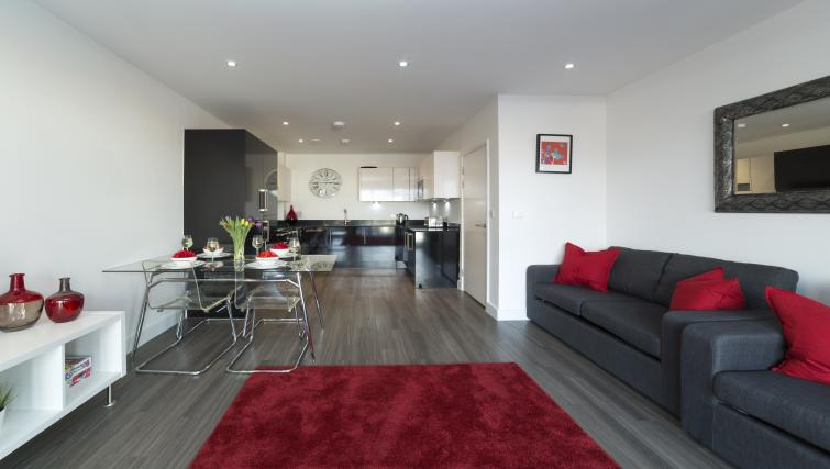 Living room at Tower Bridge Serviced Apartments - Citybase Apartments
