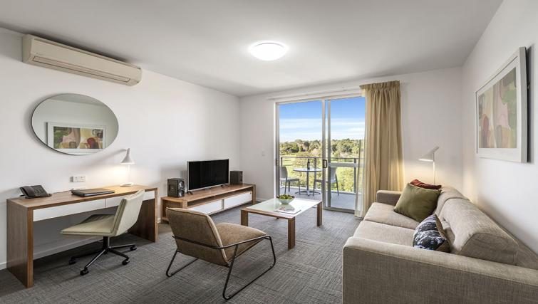 Living room at Quest Toowoomba Apartments - Citybase Apartments
