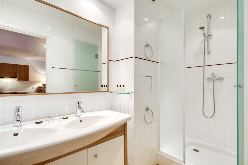 Bathroom at Rue Du Mail Apartments - Citybase Apartments