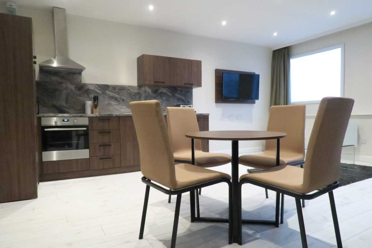 Dining table at Quay Apartments Newport - Citybase Apartments