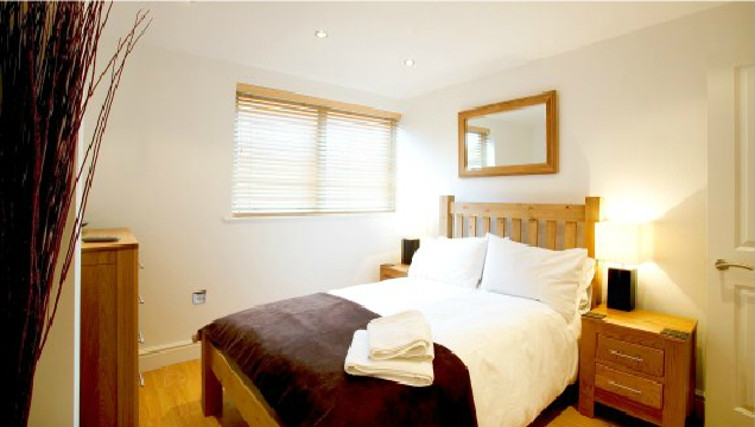 Charming bedroom in Old Library Apartments - Citybase Apartments