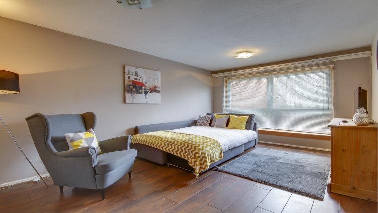 Sofa bed at Azura Apartment - Citybase Apartments