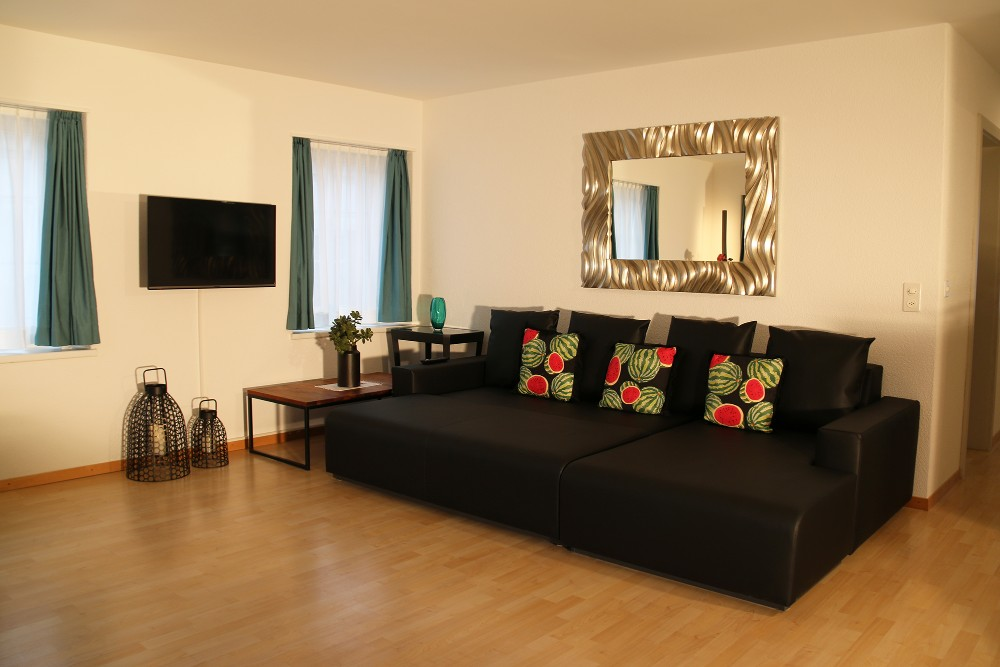 Sofa at River Residence Apartments - Citybase Apartments