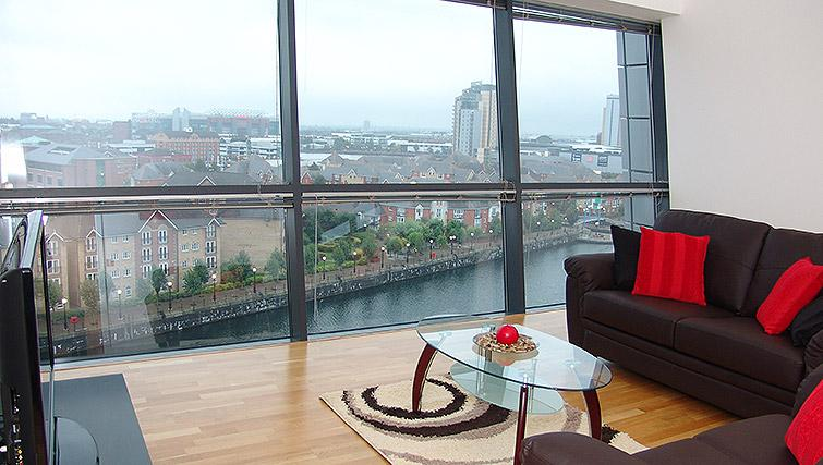 Living area in the Quay Serviced Apartments - Citybase Apartments