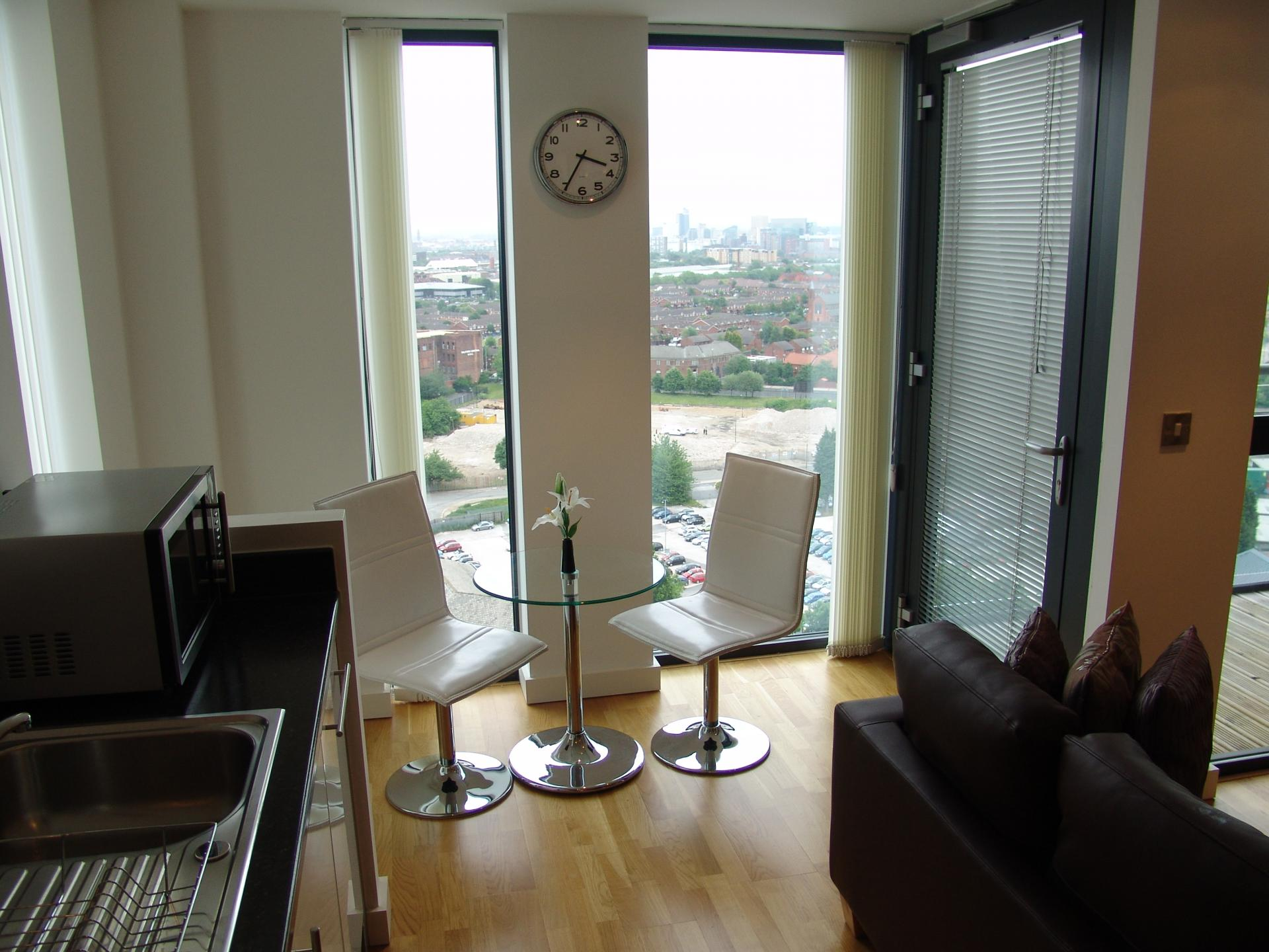 Seating area at Quay Serviced Apartments - Citybase Apartments