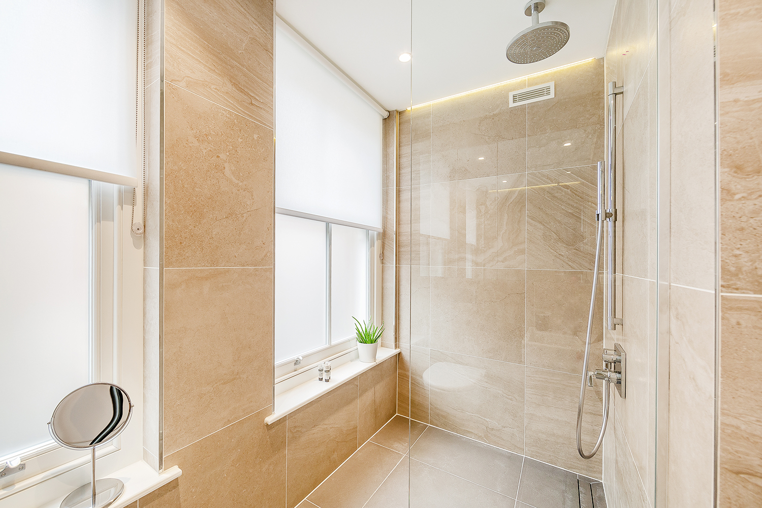 Modern bathroom at Floral Street Serviced Apartments, Covent Garden, London - Citybase Apartments