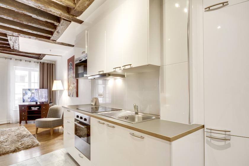 Kitchen at Rue d'Argout Apartments - Citybase Apartments