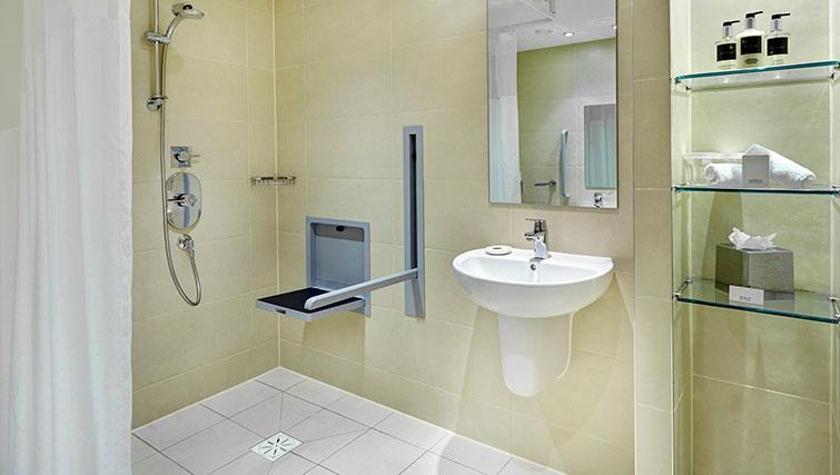 Bathroom with shower at Staybridge Suites Newcastle - Citybase Apartments