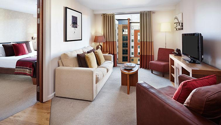 Memorable living area at Staybridge Suites Newcastle - Citybase Apartments