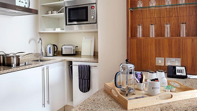 Kitchen in studio at Staybridge Suites Newcastle - Citybase Apartments