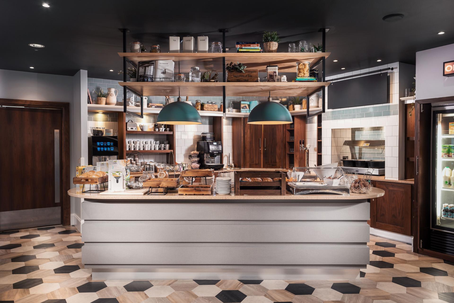 The Hub - Breakfast Area at Newcastle Staybridge Suites Newcastle - Citybase Apartments