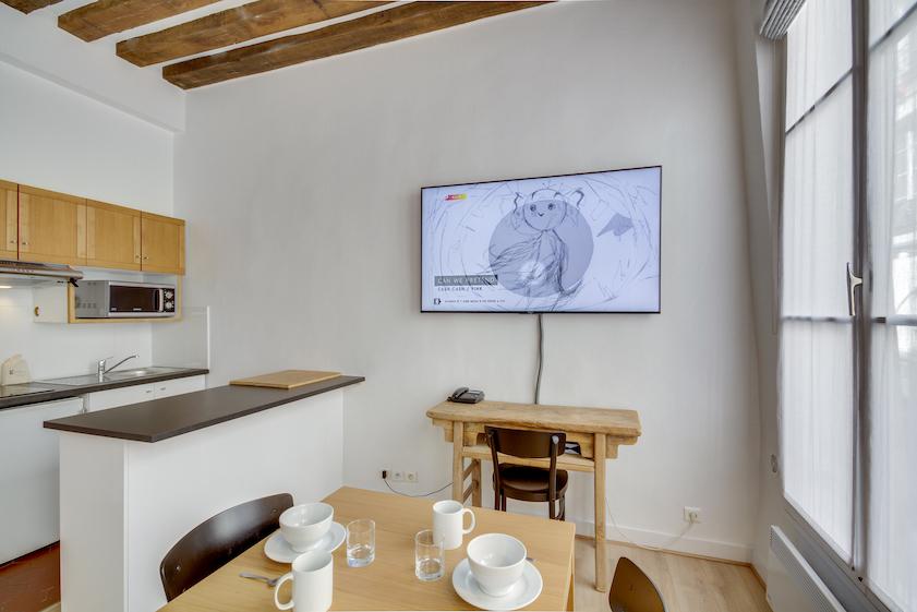 Kitchen at Rue Saint-Sauveur Apartments - Citybase Apartments