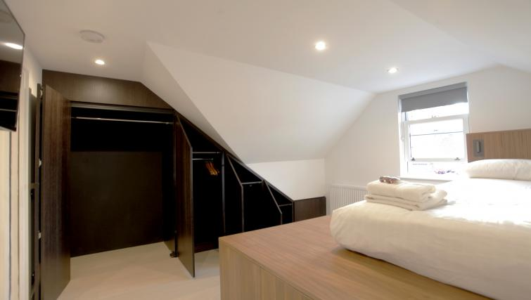 Modern bedroom at West Hampstead Apartments - Citybase Apartments