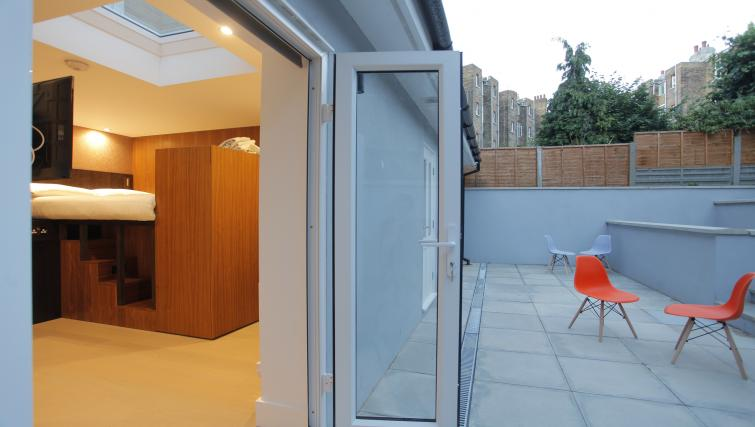 Patio area at West Hampstead Apartments - Citybase Apartments