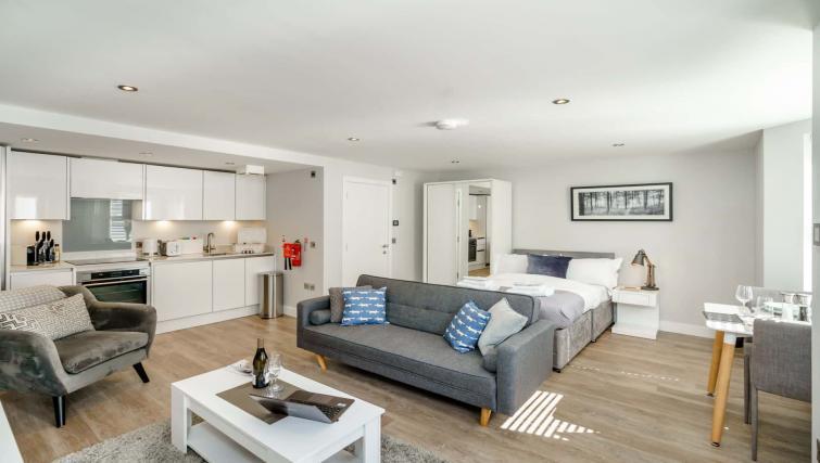 Spacious living area at Victoria Road Apartments - Citybase Apartments