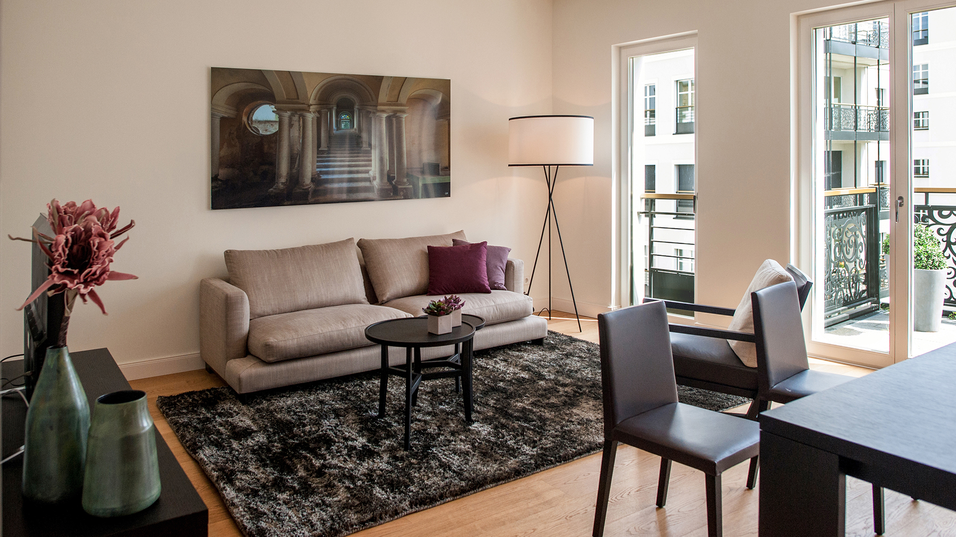 Stylish lounge at InTown Residences - Citybase Apartments