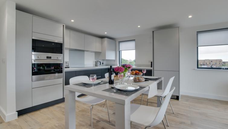 Kitchen at Pen Dinas Apartment - Citybase Apartments
