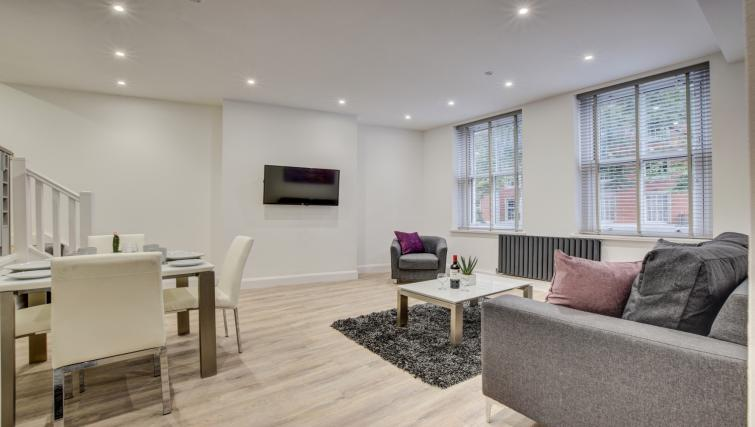 Modern living area at Hafan Y Porth Apartment - Citybase Apartments