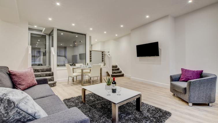 Living room at Hafan Y Porth Apartment - Citybase Apartments