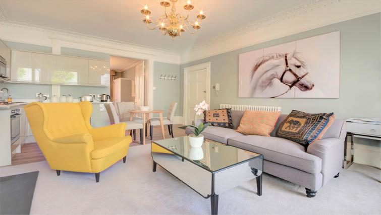 Living area at Montpellier Spa Road Apartment - Citybase Apartments