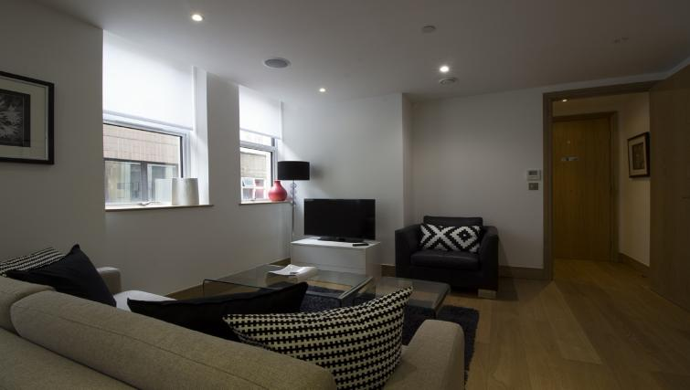 Living area at 7 Red Lion Court Apartment - Citybase Apartments