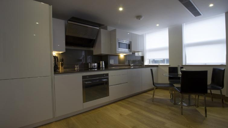 Kitchen at 7 Red Lion Court Apartment - Citybase Apartments