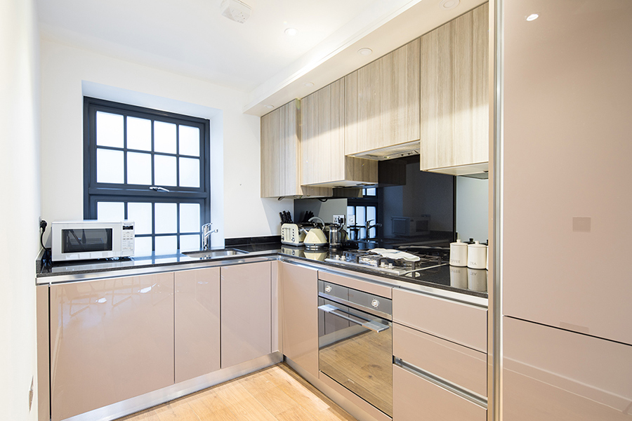 Modern kitchen at Omega Place Apartment - Citybase Apartments