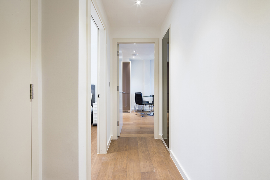 Hallway at Omega Place Apartment - Citybase Apartments