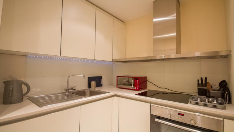 Kitchen facilities at Canalside Living Apartments - Citybase Apartments