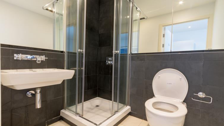 Shower at Canalside Living Apartments - Citybase Apartments