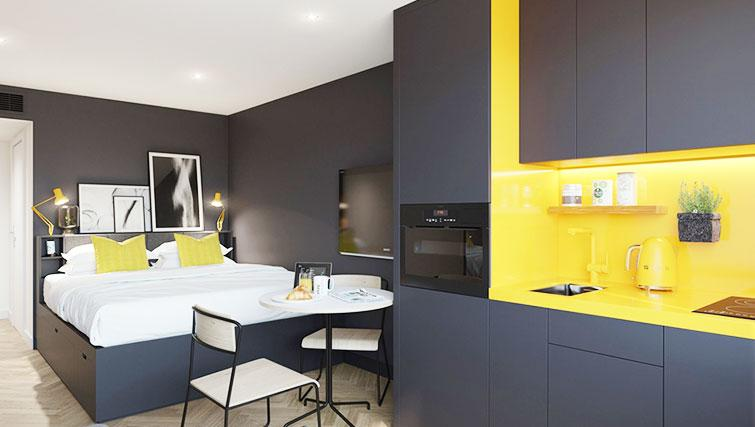 Kitchen at Staycity Aparthotel Dublin Castle - Citybase Apartments