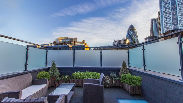 Balcony at Liverpool Street Apartment - Citybase Apartments