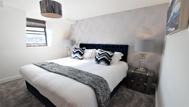 Modern bedroom at Haven Apartments - Citybase Apartments