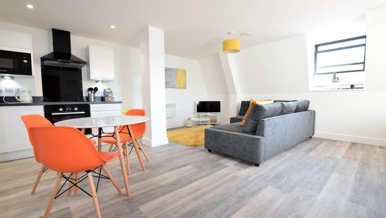 Modern lounge at Haven Apartments - Citybase Apartments