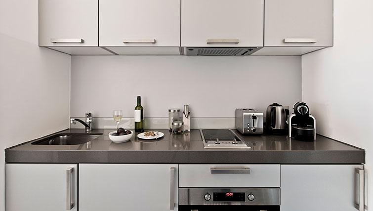 Modern kitchen at Templeton Place Aparthotel - Citybase Apartments